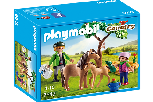 Playmobil 6949 Country - Vet with Pony and Foal