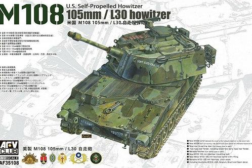 AFV Club - U.S. Self-Propelled Howitzer M108 105mm/L30 1/35