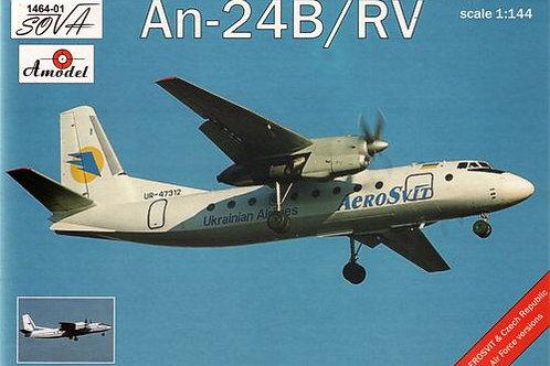 Amodel - Antonov An-24B/RV 1/144