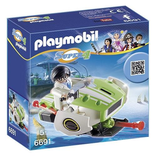 Playmobil 6691 Super 4 - Technopolis Chameleon Jet