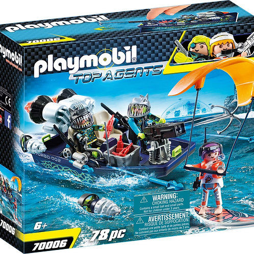 Playmobil 70006 Top Agents - Team S.H.A.R.K. Harpoon Craft