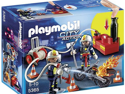 Playmobil 5365 City Action - Fire Brigade Firefighters with Water Pump