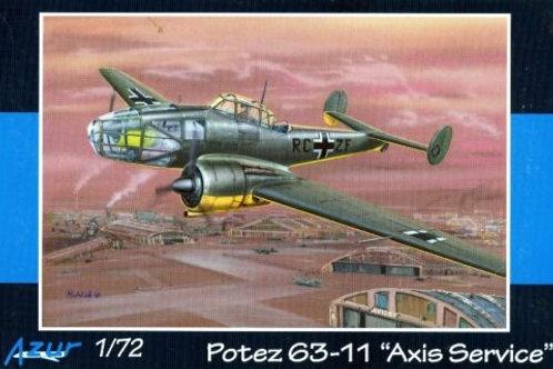 Azur - Potez 63-11 Axis Service 1/72