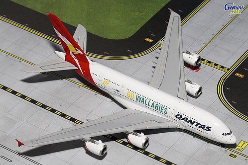 Gemini - Qantas Airbus A380 VH-OQH Wallabies 1/400