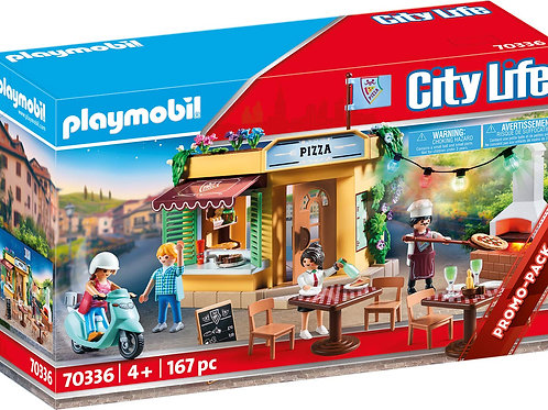 Playmobil 70336 City Life - Pizzeria with Terrace