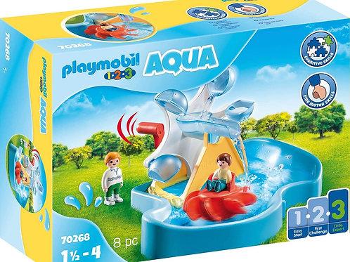 Playmobil 70268 1.2.3 Aqua - Water Wheel with Carousel