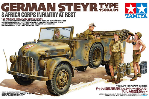 Tamiya - German Steyr Type 1500A/01 w/Africa Corps Infantry at Rest 1/35