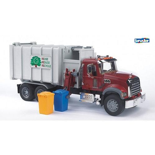 Bruder 02811 - Mack Granite Side Loader Garbage Truck 1/16