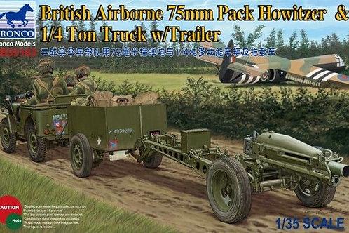 Bronco - British Airborne 75mm Pack Howitzer 1/35