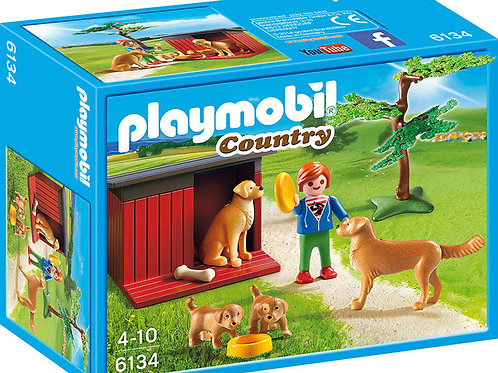 Playmobil 6134 Country - Golden Retrievers with Toy