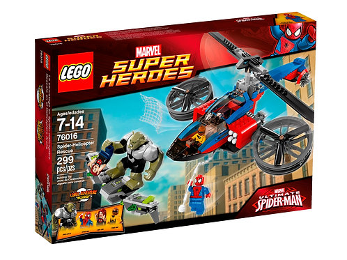 Lego 76016 Super Heroes - Spider-Helicopter Rescue