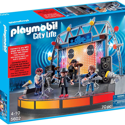 Playmobil 5602 City Life - Music Stage with Rock Band