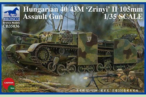 Bronco - Hungarian 40/43M Zrinyi II 105mm Assault