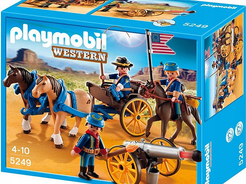 Playmobil 5249 Western - Horse-Drawn Carriage with Cavalry Rider