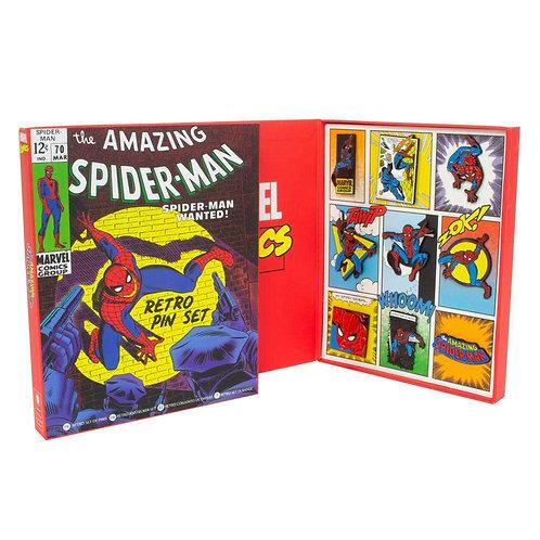 Official Marvel Spider-Man Retro Pin Badge Set
