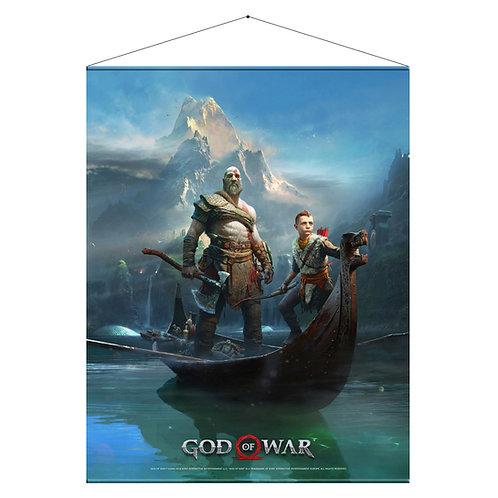 """Official God of War """"Father & Son"""" Wall Scroll"""