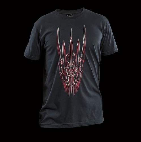 Official WETA Sauron Red Pinstriped Black T-Shirt (Large)