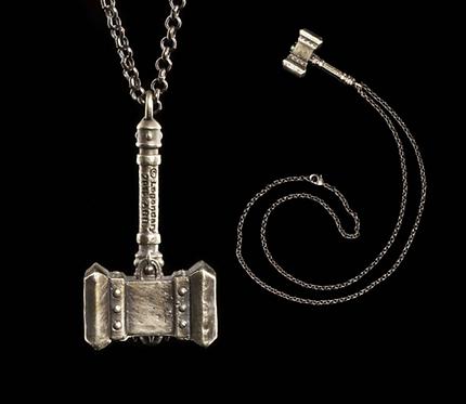 Official WETA Warcraft: Doomhammer Pendant (White Bronze)