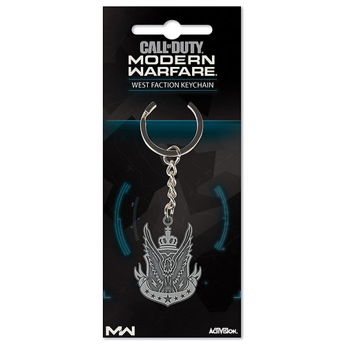 """Official Call of Duty Modern Warfare """"West Faction"""" Keychain"""