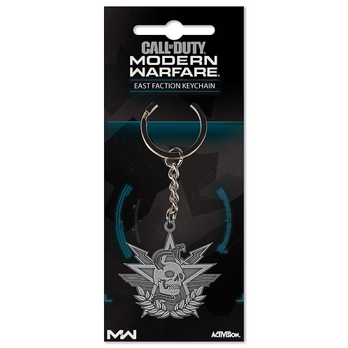 """Official Call of Duty Modern Warfare """"East Faction"""" Keychain"""