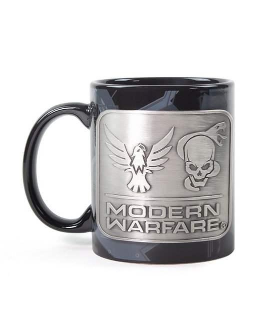 Official Call of Duty Modern Warfare Metal Badge Mug