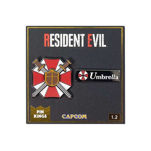 Official Resident Evil Pin Kings Enamel Pin Badge Set 1.2
