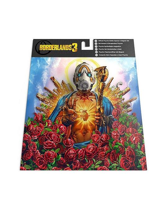 Official Borderlands 3 Psycho Bottle Opener & Magnet Set
