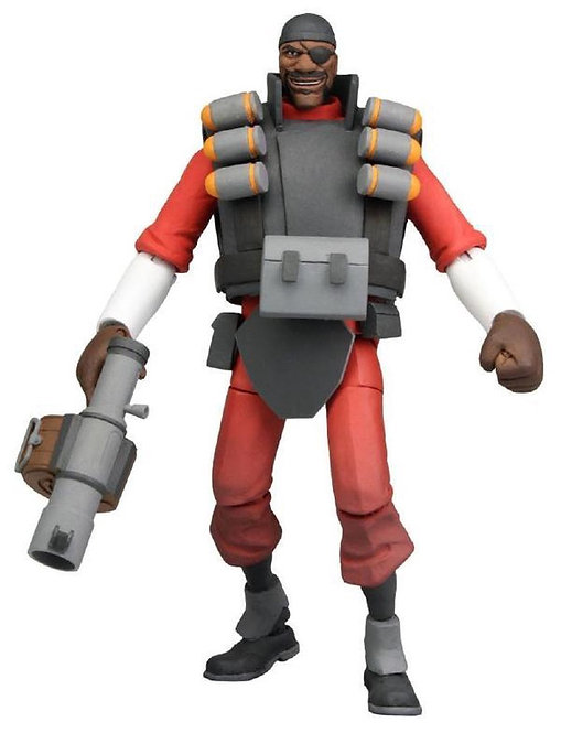 """Official NECA Valve Team Fortress2: 7"""" The Demoman UltraDeluxe ActionFigure(Red)"""