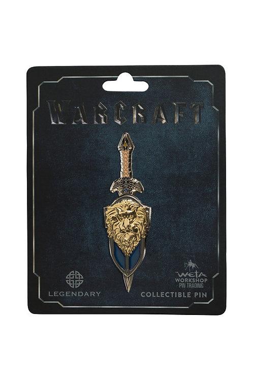 Official WETA Warcraft: Lothar Sword & Shield Dual Collectible Pin