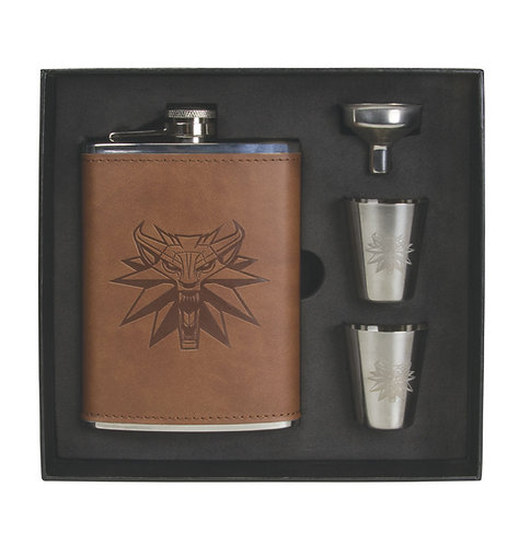 Dark Horse: The Witcher 3 Wild Hunt - Stainless Steel Deluxe Flask Set