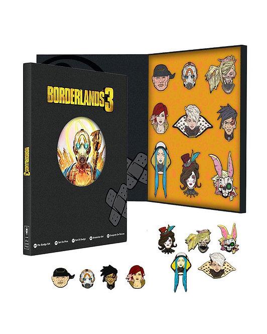 Official Borderlands 3 Collectors Pin Badge Set
