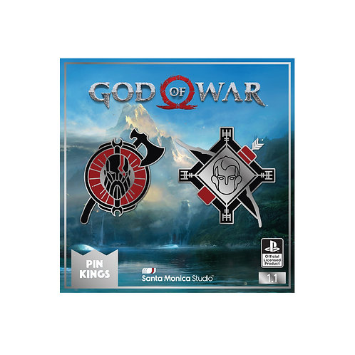 Official God of War Pin Kings Enamel Pin Badge Set