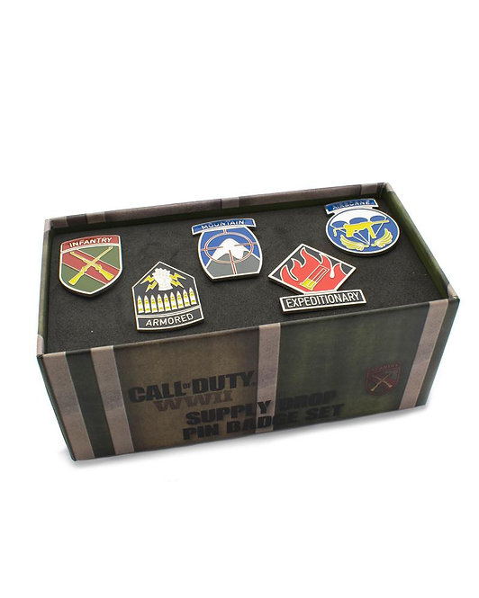 Official Call of Duty WW2 Pin Badge Set