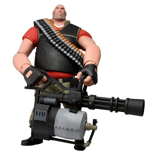 """Official NECA Valve Team Fortress2: 7"""" The Heavy Ultra Deluxe Action Figure(Red)"""
