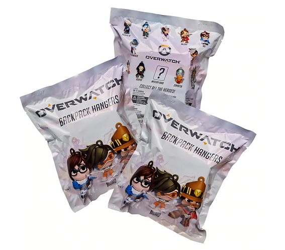 Official Overwatch Backpack Hangers (3 Pack)