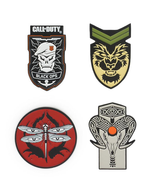 Official Call of Duty Black Ops 4 Pin Badge Set