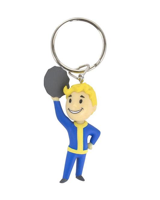 Official Fallout Vault Boy Barter Keyring / Keychain