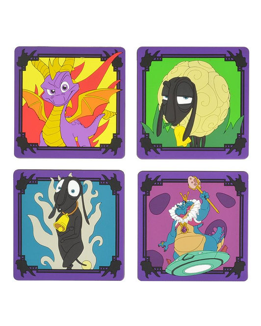 Official Spyro the Dragon Silicone Coasters (4 pack)