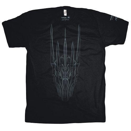 Official WETA Sauron Blue Pinstriped Black T-Shirt (XXL)