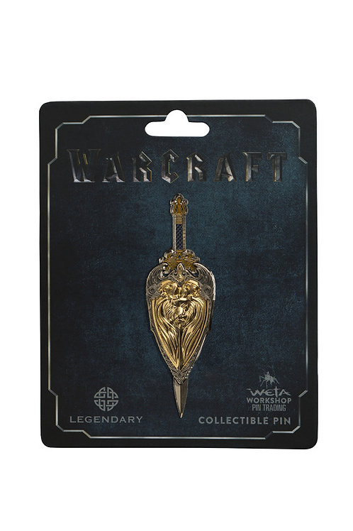 Official WETA Warcraft: King Llane Sword & Shield Dual Collectible Pin