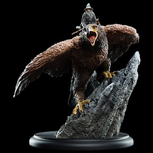 Official WETA The Lord of the Rings: Gandalf on Gwaihir Mini Statue
