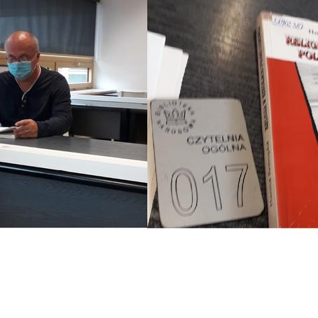 Istraživanje M. Akmadže u Poljskoj  (kolovoz 2020., Biblioteka Nardowa, Varšava)