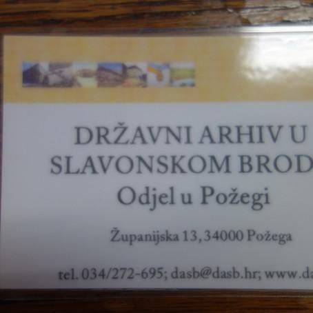Arhivsko istraživanje u Požegi - M. Karakaš Obradov istraživala je u arhivu od 3. do 7. srpnja 2020.