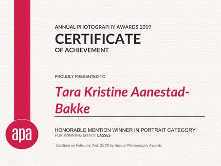Honourable mention APA awards