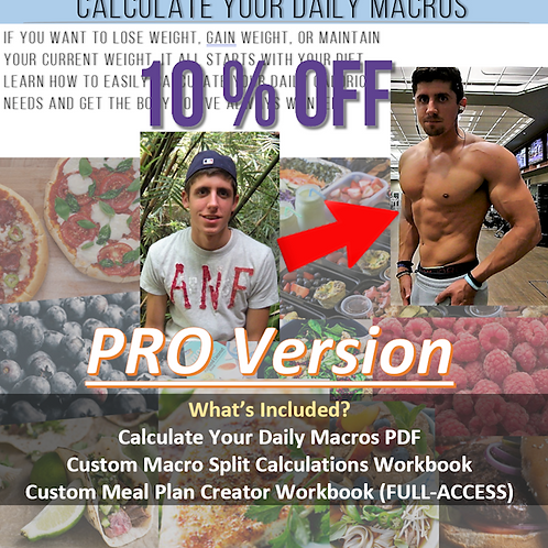 Calculate Your Daily Macros PRO Version