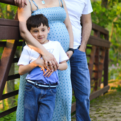Pregnancy Family Session - Outdoor (18 o
