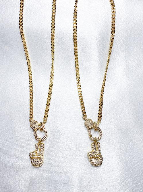 Cuban Clasp Sign Necklaces