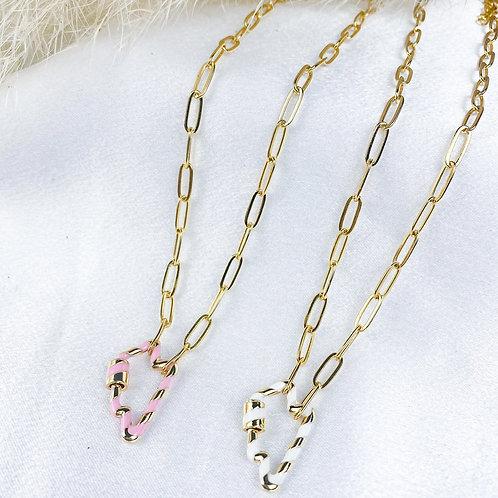Neon Lightning Necklace