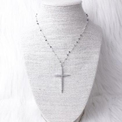 Mixed White Cross Single
