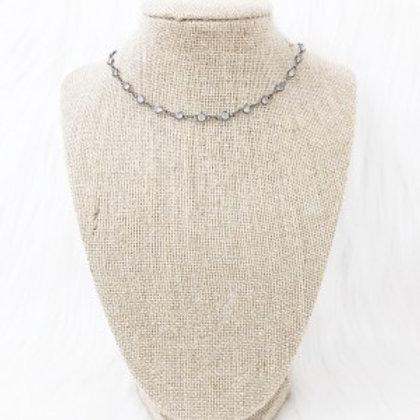 Gunmetal Diamond Necklace